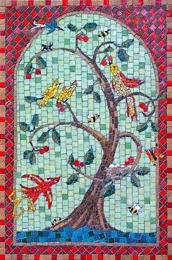 Mosaics Tree Of Life Mosaic Wall Panel