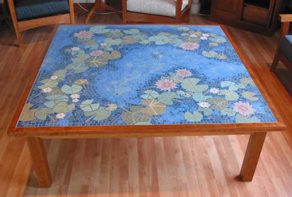 - Water Lily Mosaic Coffee Table