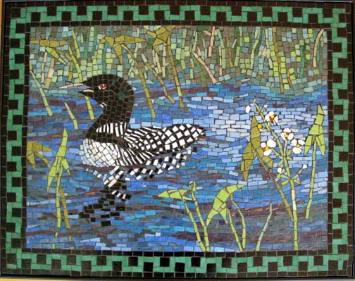 Loon Art Mosaic Wall Panel