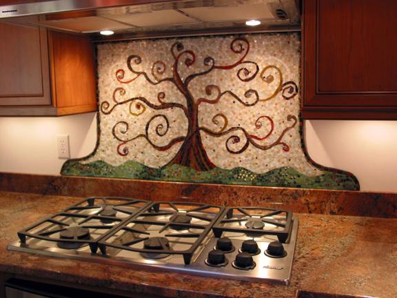 kitchen mosaic backsplash classic view of big bang mosaics
