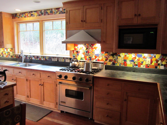 kitchen mosaic backsplash classic view of big bang