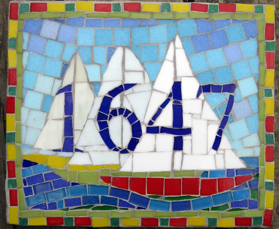 sailboats house number sign