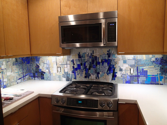 mosaic designs for kitchen backsplash. abtract blue mosaic design  kitchen backsplash KITCHEN MOSAIC BACKSPLASH CLASSIC VIEW of BIG BANG MOSAICS