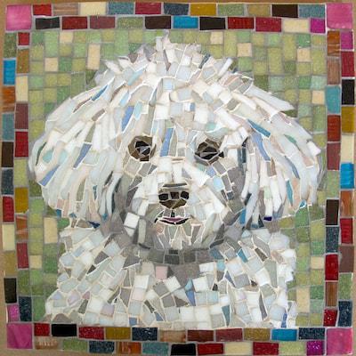 Image of: Elementary Big Bang Mosaics Mosaic Pet Portraits By Mosaic Artist Cynthia Fisher Bigbangmosaics
