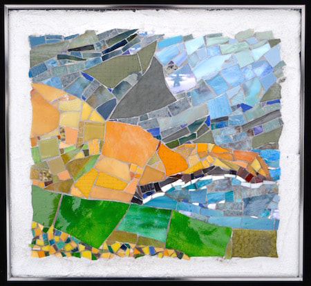 Bolus head abstract mosaic ireland