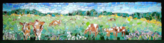guernsey cow mosaicPicture