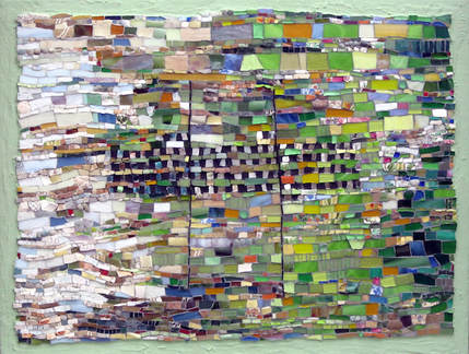 to every thing there is a season, spring abstract art mosaic