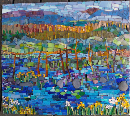 abstract landscape mosaic