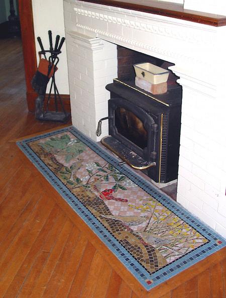 fireplace hearth floor medallion and more bigbangmosaics. Black Bedroom Furniture Sets. Home Design Ideas