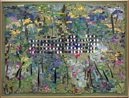 to every thing there is a season, summer, abstract art mosaic