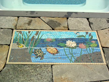 mosaics, poolside and exterior residential mosaics