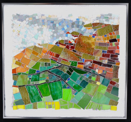 abstract landscape ireland mosaic